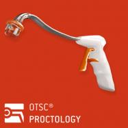 OTSC Proctology applicator with a pre-mounted clip Ovesco Endoscopy